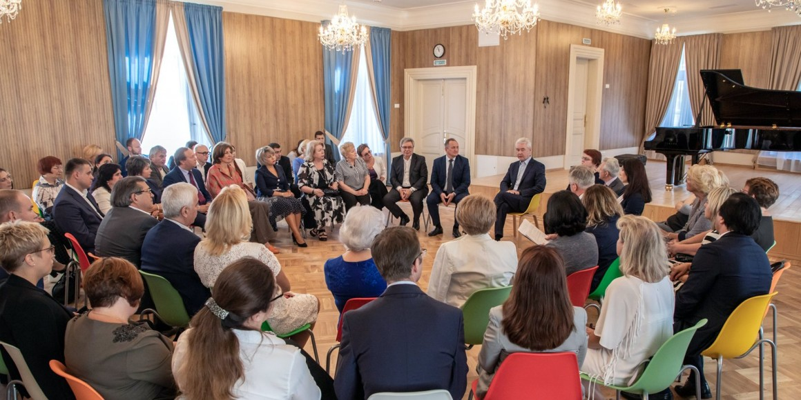 Собянин Встреча с директорами